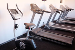 Set of treadmills Royalty Free Stock Images