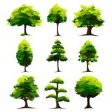 Set of Tree Royalty Free Stock Image