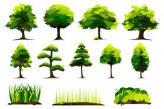Set of Tree Royalty Free Stock Photos