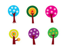 set tree för blomma Arkivfoton
