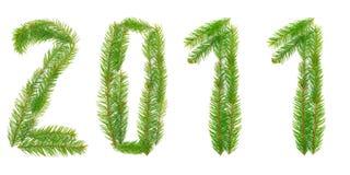 set tree för cristmasnummer Arkivbild
