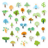 set tree för symbol Royaltyfria Foton