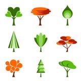 set tree för symbol Royaltyfri Bild