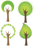 Set of tree icons Royalty Free Stock Photos