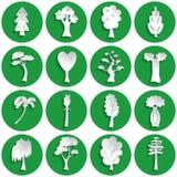 Set of tree icons stock illustration