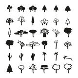 Set of tree icons Royalty Free Stock Image
