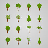 Set of tree icons,  illustration. Collection of tree icons,  illustration Stock Photos