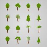 Set of tree icons,  illustration Stock Photos
