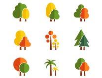 Set of tree icons Stock Image