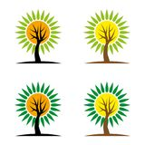 Tree8. A set of tree icons Stock Photos