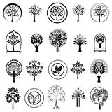 Set of tree icons Royalty Free Stock Photography