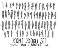 Set of Tree illustration Hand drawn doodle Sketch line ep stock illustration
