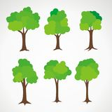 Set of Tree Vector with Simple Design Royalty Free Stock Photo