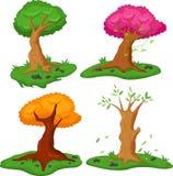 Set of tree on white background. Illustration of Set of tree on white background Stock Photography