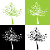 Set of trees Royalty Free Stock Images