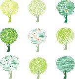 Set of trees Stock Photo