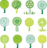 Set of trees. stock illustration