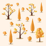 Set of trees. Cartoon vector illustration Stock Image