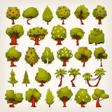Set of trees royalty free illustration