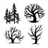 Set of trees Royalty Free Stock Photo