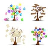 set trees för original Arkivfoton