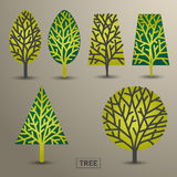 Set of trees Stock Image