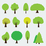 Set of trees icon style. Isolated vector. Royalty Free Stock Photography