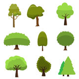 Set of trees icon style. Isolated vector. Stock Photography