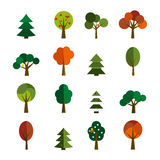Set of  trees icons Stock Photo