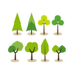 Set of trees icons. Royalty Free Stock Image