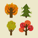 Set of trees. Illustration set of trees for design Royalty Free Stock Photography