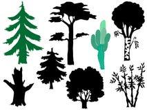 Set of trees Royalty Free Stock Image