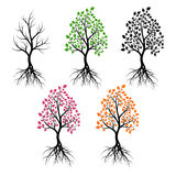 Set of trees Stock Photography