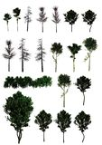 A set of trees. (PNG) Royalty Free Stock Image
