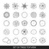 Set of trees. Top view Stock Photography