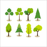 Set of trees. Tree symbols. Stock Photos
