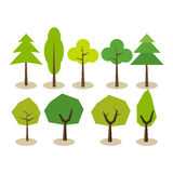 Set of trees. Tree symbols. Tree icons. Stock Photos