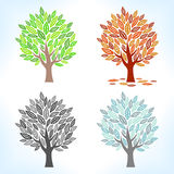Set of trees Royalty Free Stock Photos