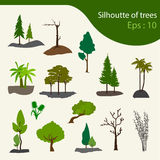 Set of trees. Vector illustration Royalty Free Stock Photos