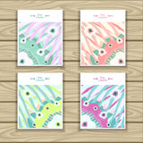 Set Trend Abstract backgrounds in pastel colors Stock Images