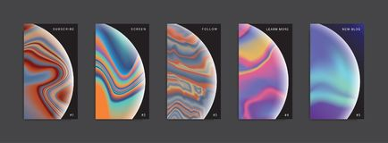 Set of trendy abstract stories templates. royalty free illustration
