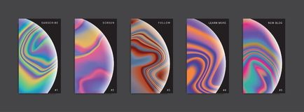 Set of trendy abstract stories templates. vector illustration