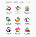 Set of trendy abstract, vibrant and colorful icons Stock Photos