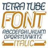 Set of trendy fun vector capital English alphabet letters, abc i. Solated. Special italic type font, script from a to z can be used for logo creation. Made with Royalty Free Stock Images
