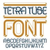 Set of trendy fun  vector capital English alphabet letters isola. Ted. Special regular type font, script from a to z can be used for logo creation. Made using Royalty Free Stock Photography