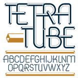 Set of trendy fun  vector capital English alphabet letters isola. Ted. Special type font, script from a to z can be used for logo creation. Made with 3d tetra Stock Images