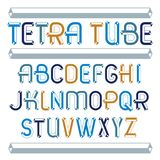 Set of trendy fun  vector capital English alphabet letters isola. Ted. Special type font, script from a to z can be used for logo creation. Made using geometric Royalty Free Stock Photo