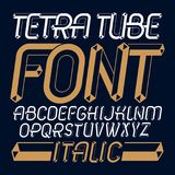 Set of trendy fun  vector capital English alphabet letters isola. Ted. Special italic type font, script from a to z can be used for logo creation. Made using Stock Photography