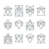 Set of trendy geometric icons. Geometric hipster logotypes Stock Images