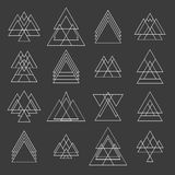 Set of trendy geometric shapes. Geometric hipster logotypes coll Stock Images